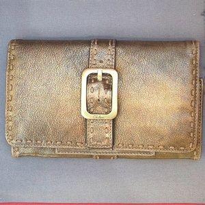 COLE HAAN Rustic Metallic Wallet MSRP$150
